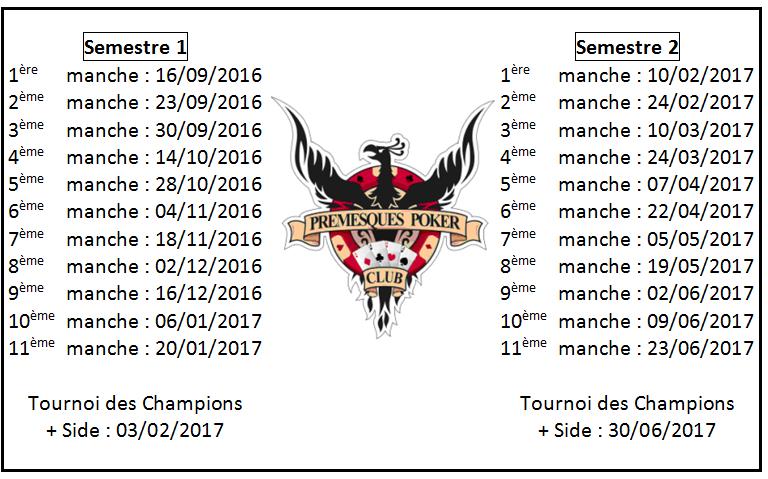 Calendrier 2016 - 2017